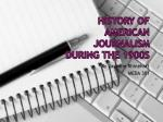 History of American Journalism during the 1900s