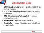 Signals from Body