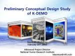 Preliminary Conceptual Design Study of K-DEMO