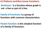 4.3 Patterns and Non-Linear Functions: