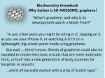 """""""What's graphene , and why is its development worth a Nobel Prize?"""""""