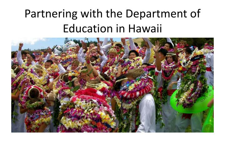 partnering with the department of education in hawaii n.