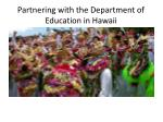 Partnering with the Department of Education in Hawaii