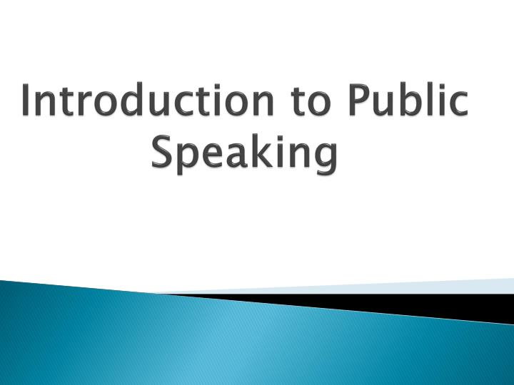introduction to public speaking n.