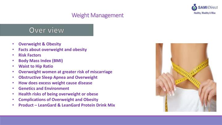 weight management n.