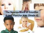 The Neuroscience of Emotion A Unit Plan For Kids ( Grade 4)