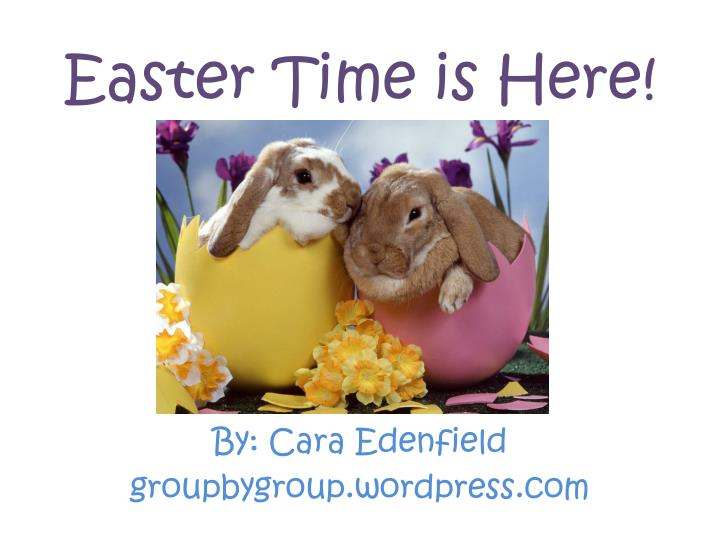 easter time is here n.