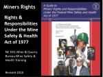 Miners Rights