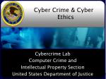 Cyber Crime & Cyber Ethics