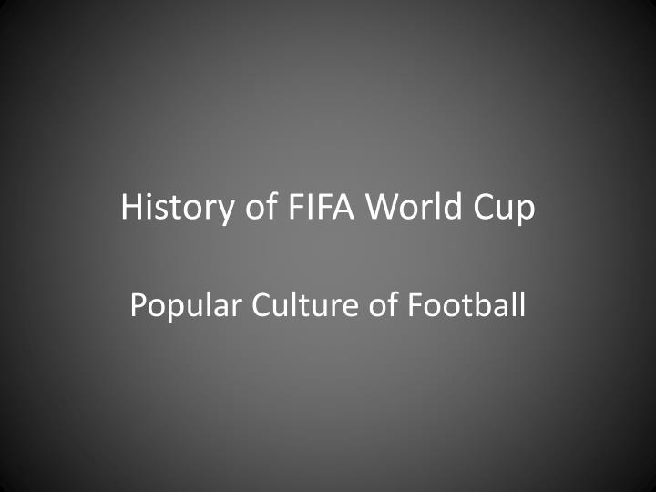 history of fifa world cup n.