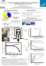 InvestigatingThermal Behaviour  of Glass  fibre  By  Thermomechanical analysis