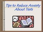 Tips to Reduce Anxiety About Tests