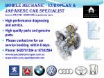 High performance diagnosing  and service.   High quality parts and genuine parts.