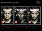 Posters of the hate crime campaign