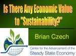 "Is There Any Economic Value to ""Sustainability?"""