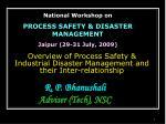 Overview of Process Safety &  Industrial Disaster Management and their Inter-relationship