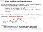 Flow and Thermal Considerations