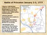 Battle of Princeton January 2-3, 1777