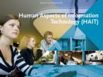 Human Aspects of Information Technology