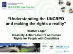 """Understanding the UNCRPD and making the rights a reality"""