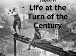Chapter 15 Life at the Turn of the Century