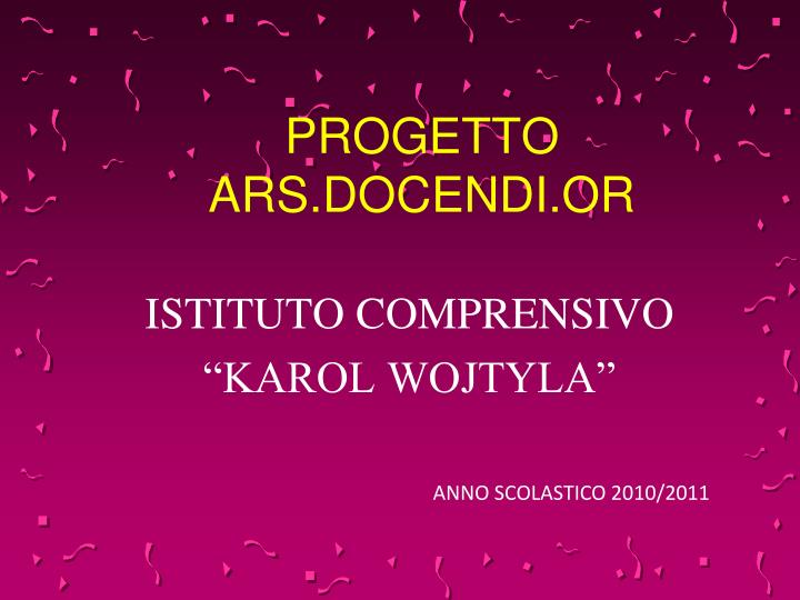 progetto ars docendi or n.