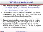 NSTX-U PAC-31 questions – day 1