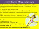 Lyrical Dance-Meaningful Song