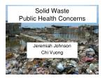 Solid Waste Public Health Concerns
