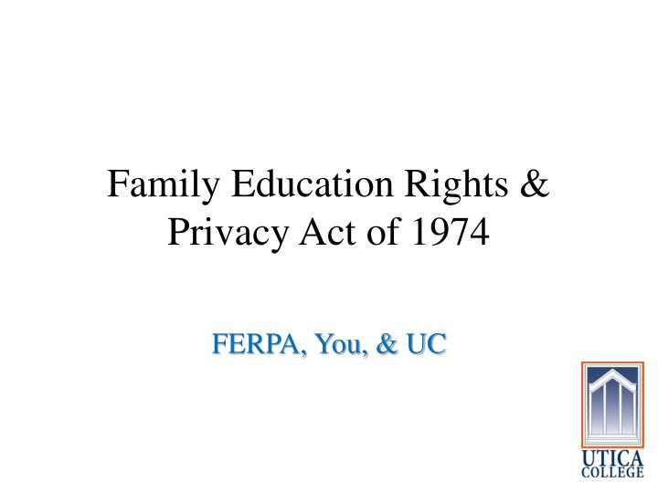 family education rights privacy act of 1974 n.
