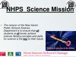 NHPS  Science Mission