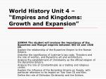 """World History Unit 4 – """"Empires and Kingdoms: Growth and Expansion"""""""