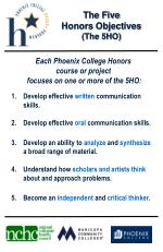 The Five  Honors Objectives (The 5HO)