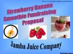 Strawberry Banana  Smoothie Fundraising        Proposal