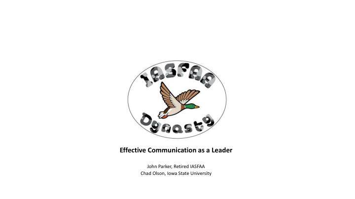 effective communication as a leader n.