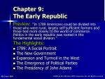 Chapter 9: The Early Republic