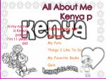 All About  Me Kenya p