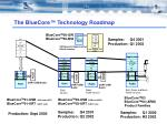 The BlueCore™ Technology Roadmap