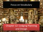 Chapter 12: Lodging Planning and Design