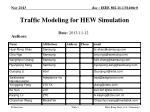 Traffic Modeling for HEW Simulation