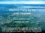 Machine Plans for the  LHC Upgrade