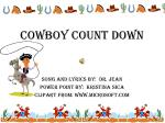 Cowboy  count down