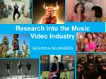 Research into the Music Video Industry