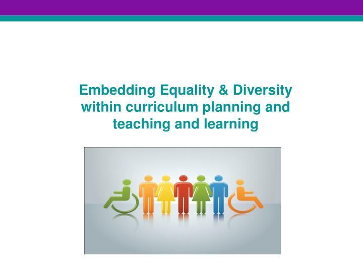 embedding equality diversity within curriculum planning and teaching and learning n.
