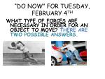 """""""DO NOW"""" FOR TUESDAY, FEBRUARY 4 TH"""