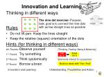 Innovation and Learning