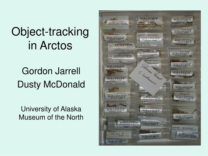 object tracking in arctos n.