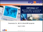 ERP2Web 4.7 Real-time B2B/C E-Commerce Storefront for JD Edwards