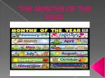 THE MONTHS OF THE YEAR