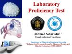 Laboratory Proficiency Test